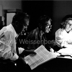 1982 Recording session with Anne-Sophie Mutter and Michel Glotz