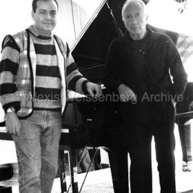 1994 in Engelberg with Mehmet Okonsar