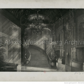 Set design by Pier Luigi Pizzi for La Fugue