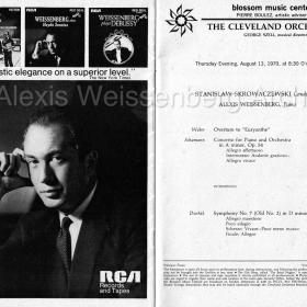 1970 Ohio Schumann Skrowaczewski Cleveland Orchestra
