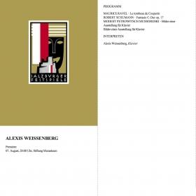 1972 Recital Ravel Schumann Mussorgski
