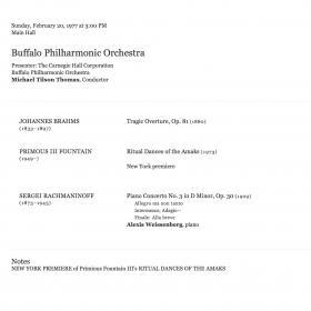 1977 February Rachmaninov 3rd Tilson Thomas Carnegie