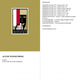 1985 Recital Scarlatti Schumann Debussy Stravinsky