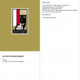 1987 Recital Franck Liszt Schumann