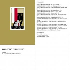 1993 Ferruccio Furlanetto Rachmaninov Mussorgski