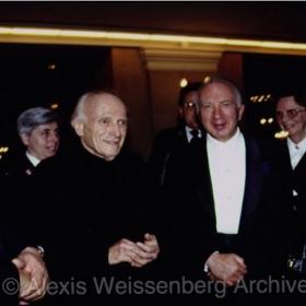 With Yehudi Menuhin
