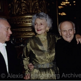 With Yehudi Menuhin and his wife Diana